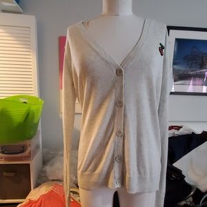 FOREVER 21 LONG SLEEVED CHERRY CARDIGAN 1X NWT